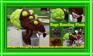 Huge Baneling Plush - Commission - Starcraft II by Forge-Your-Fantasy