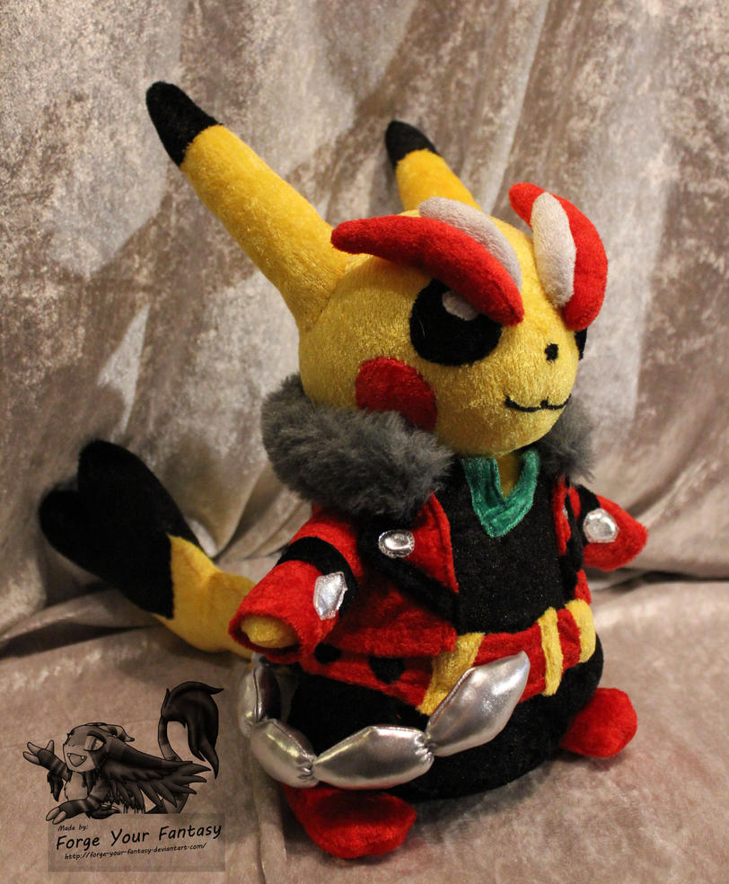 Cosplay Pikachu Rockstar Plush - Pokemon by Forge-Your-Fantasy