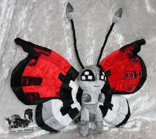 Pokeball Pattern Custom Vivillon Plush - Pokemon by Forge-Your-Fantasy