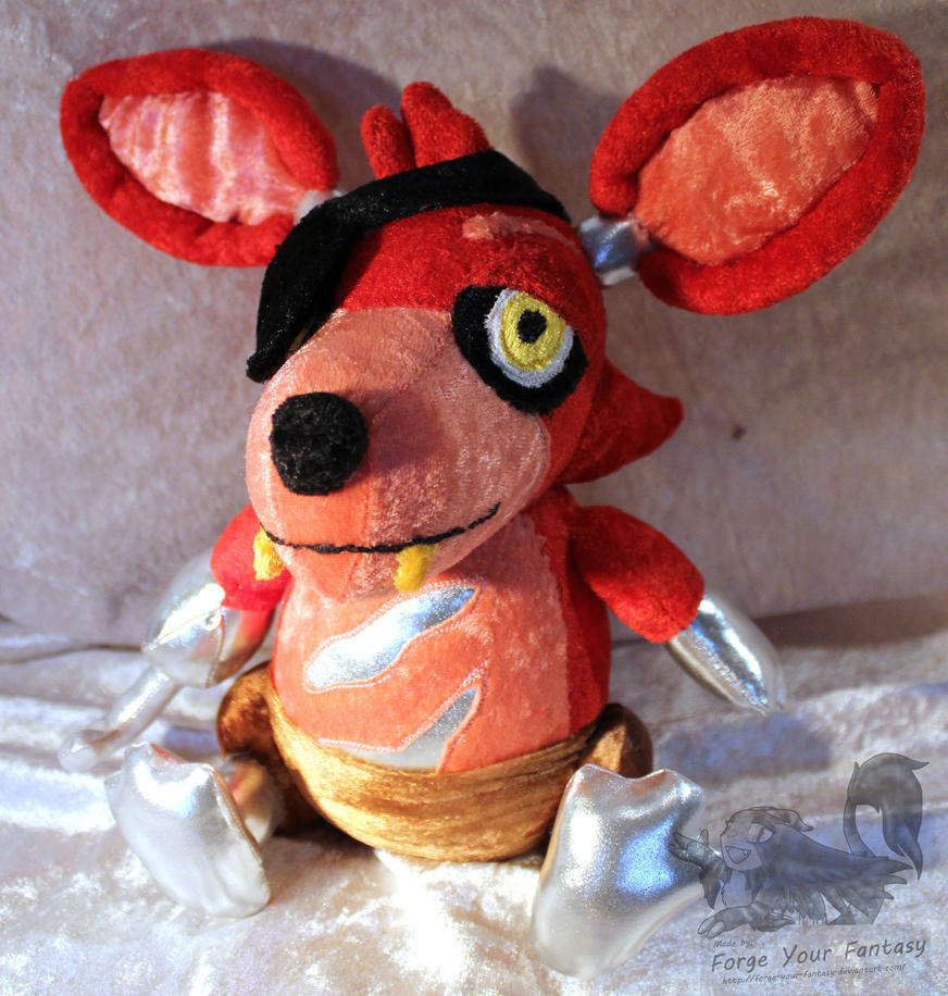 Fnaf foxy the pirate custom plush by forge your fantasy