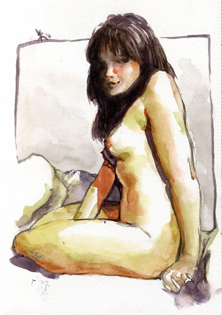Desnudo en acuarela by tomaslalala