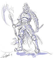 DW6: Zhang Liao sketch by kastria