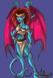 Gargoyles: Demona by kastria