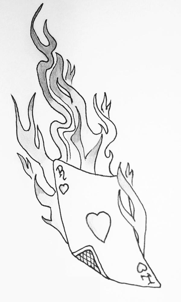 Cards And Fire Tattoo Design By Jammiedoughnut On Deviantart