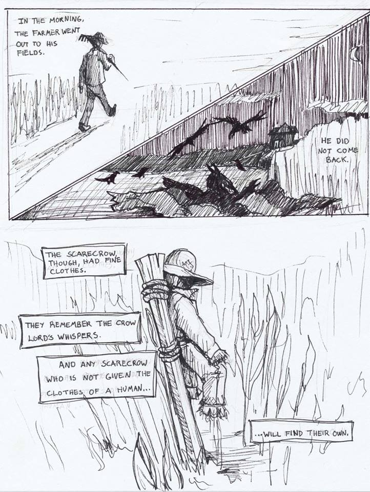 #drawlloween Scarecrow Comic, Page 2/2 by brock-art