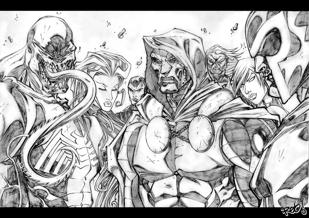 ULTIMATES VILLAINS PENCIL by MadManiaco