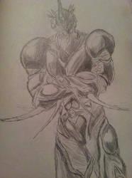 Hand drawn Shadow Guyver by Teynku