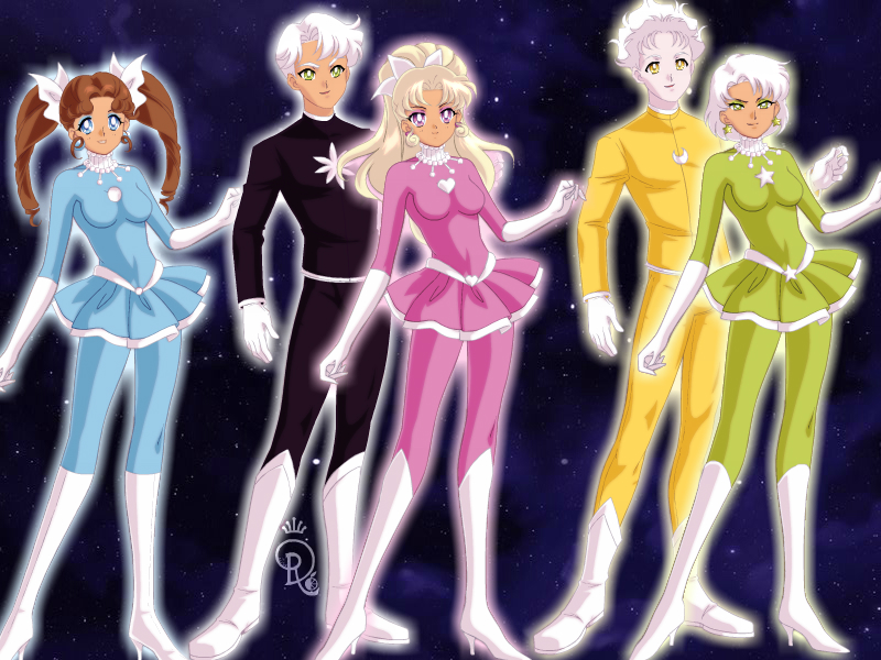 PowerHalfas in Sailor Moon Style by MarieAngel04