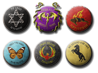 Shields with Sigils and Mottos by Will-Erwin