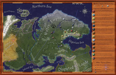 Great Northern Wilderness, Political Map