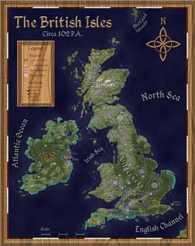 Post-Apocalyptic British Isles (Political Map)
