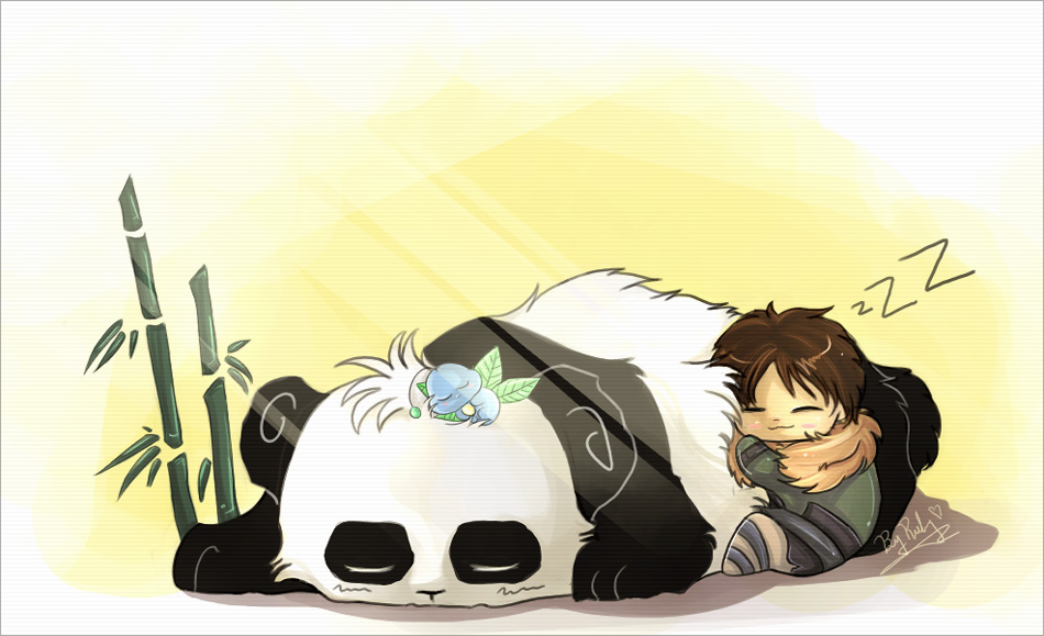 Panda Nap By Milangta Chibi Wallpaper