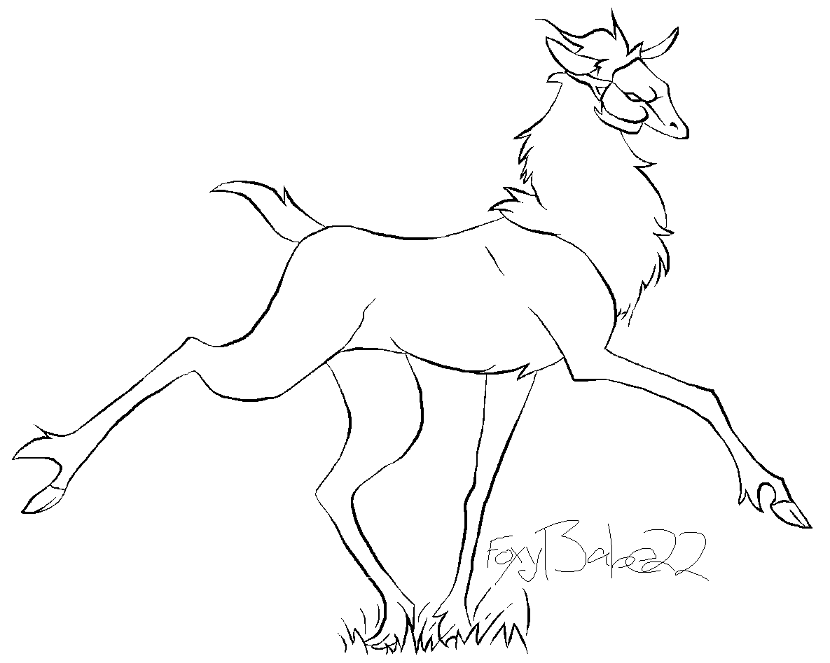 stag lineart by Foxybabe22