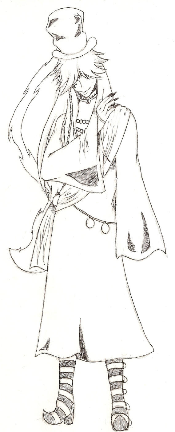 Black butler undertaker coloring pages for Undertaker coloring pages