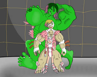 Gwenpool Hulk Out by BigHouseOfLove