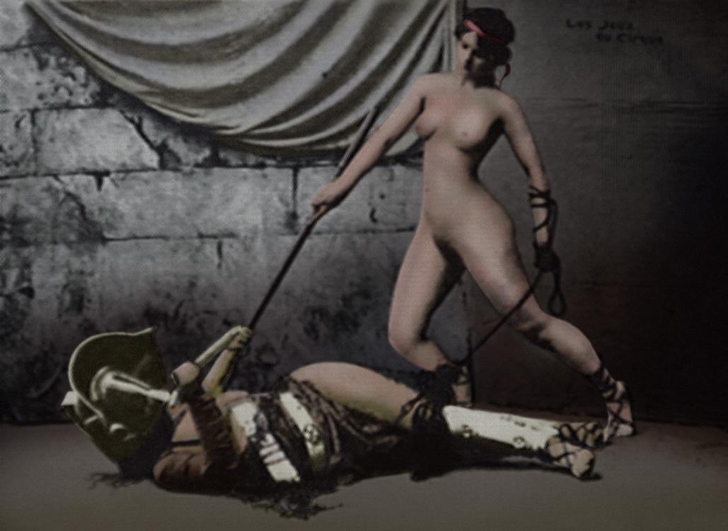 Gladiatrix Postcard 4 of 5 COL by julianapostata