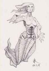 2018-05-17 sketchbook sketch - #mermay by cyphic