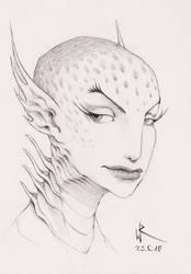 2018-05-23 sketchbook sketch - #mermay by cyphic