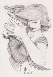 2018-05-24 sketchbook sketch - #mermay by cyphic