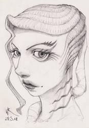 2018-05-28 sketchbook sketch - #mermay