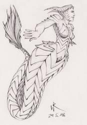 2018-05-29 sketchbook sketch - #mermay