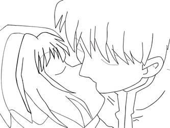 Eternal Kiss Lineart! by XxSpikesxX