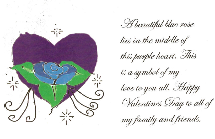 Valentine's day poem by luna116 on deviantART