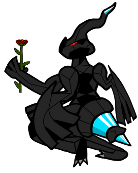 Request from @itzdarkky: Zekrom Holding a Rose
