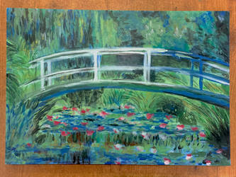 Impression - Monet's 'Lilies with Japanese Bridge'
