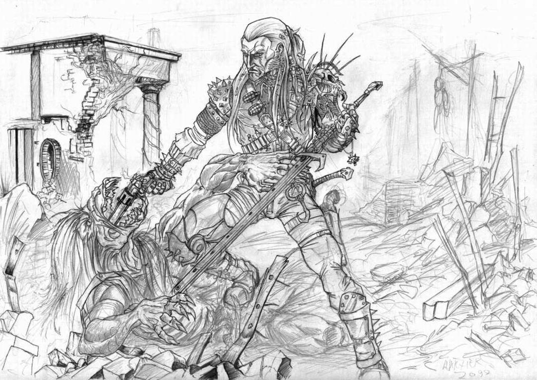 Witcher 2099 by S0URINE
