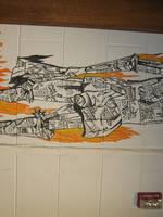 Fahrenheit 451 Mural by alinafrancesnoel
