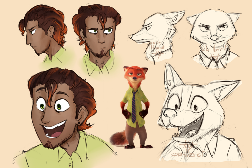 HumanNick Wilde Zootopia Humanization By Color theorist