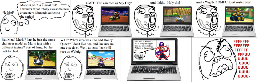 Mario Kart 7 Roster Fuuuu Comic by lilpieriWhy Isnt Waluigi In Mario Kart 7