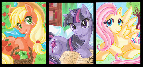 My little Pony ACEO's 2 by StardustLotus