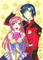Z.A.F.T. + Athrun and Lacus by StardustLotus