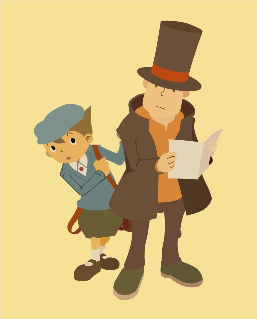 Layton and Luke by KanesTheName