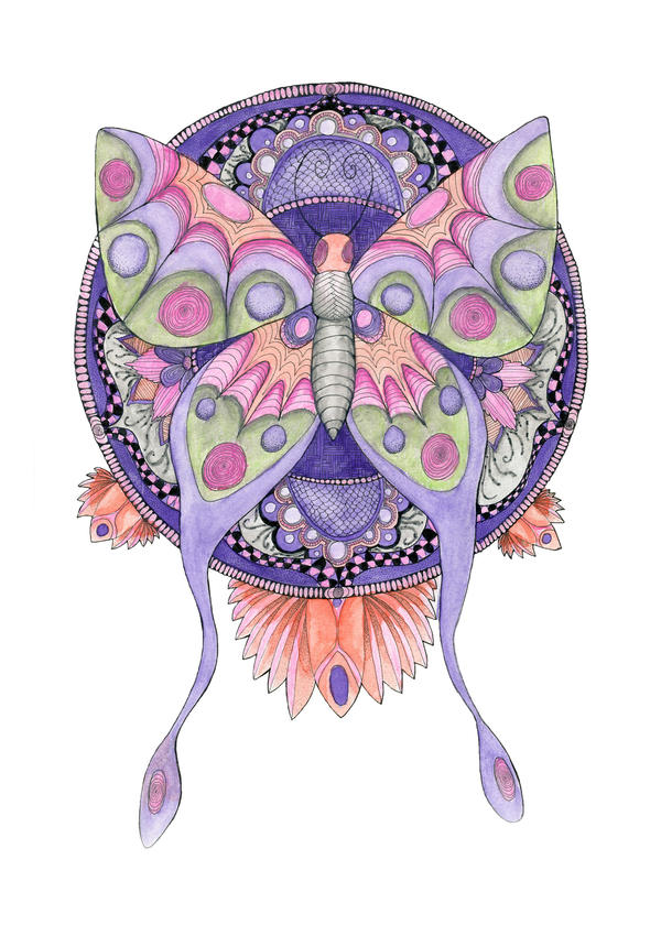 Butterfly Mandala by Durribie