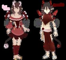 Valentine's Day Geodemon Pair [CLOSED] by chowari