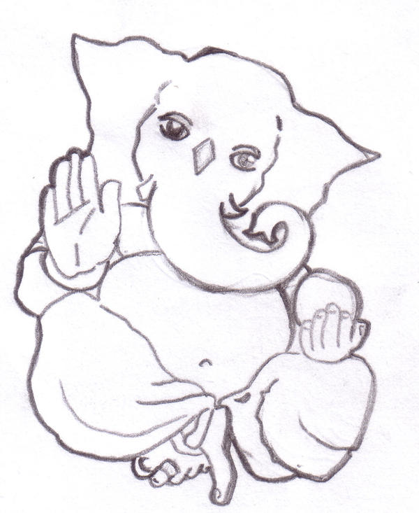 Line Art Ganesh Images : Ganesha line art by acidapple on deviantart