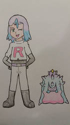 Anthro and Ditto transformed to James and Mareanie by StuAnimeArt