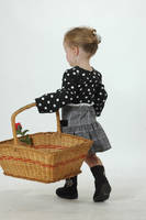 Toddler with basket