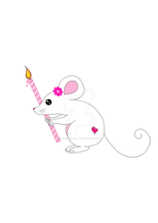 Mouse Pink Candle
