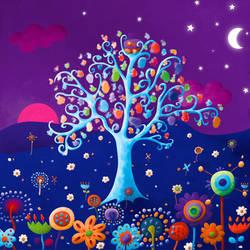 L'arbre bleu. by MayPylb