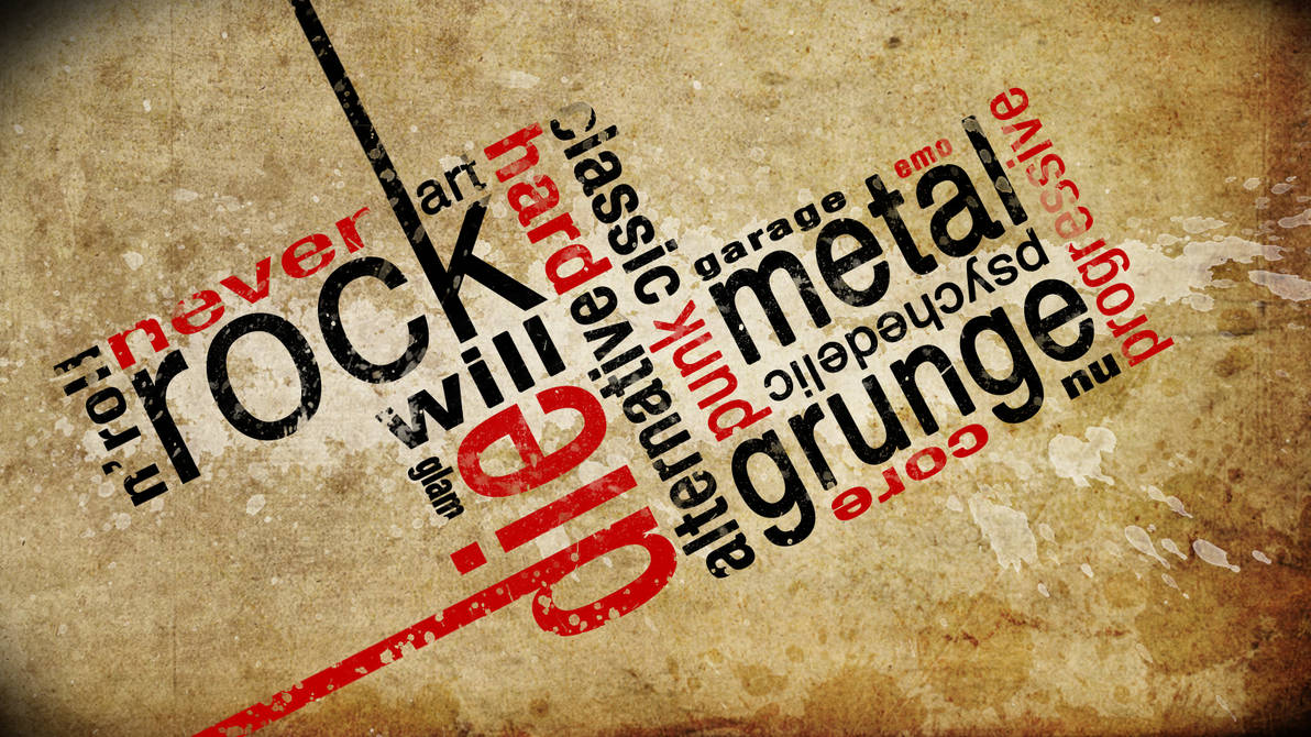 Typography Rock Genres by anhtuan9622