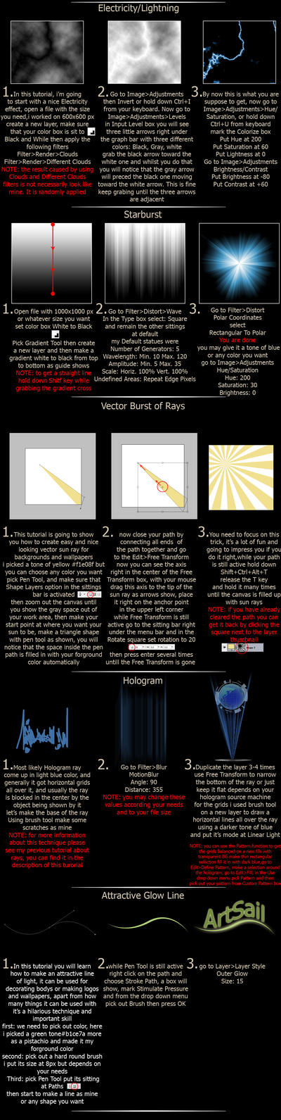 More Ways To Create Rays by ArtSail