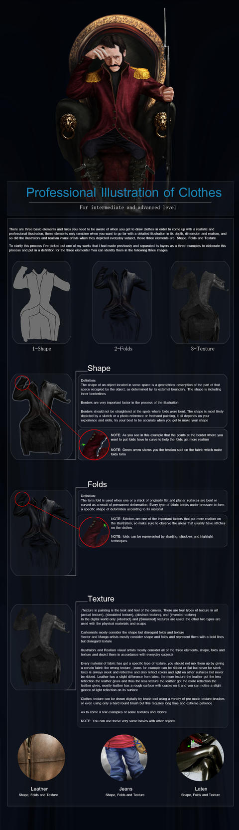 Professional Illustration of Clothes Tutorial by ArtSail