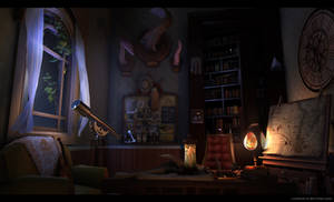 Captain's Cabin at Night