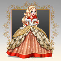 Apple White's Royal Dress