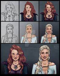 Comic portraits of friends