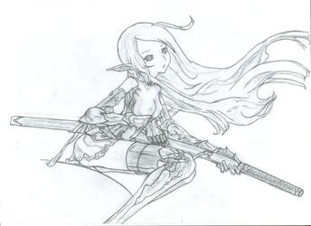 Swordswoman (m) by Erodon